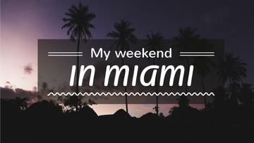 Miami Tour Ad Tropical Palm Trees