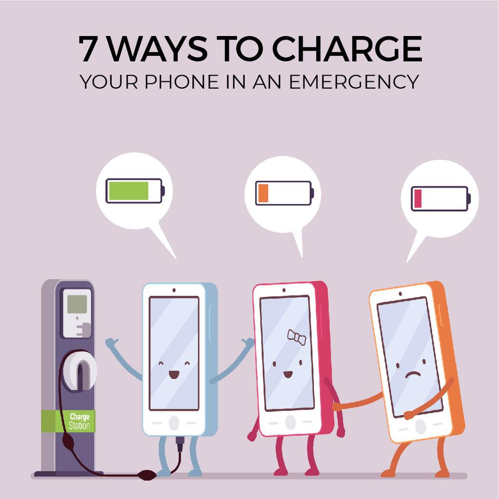 Cell phones charging — Create a Design