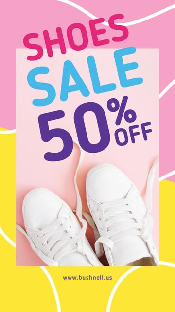 Template di design White sports shoes Sale Instagram Story