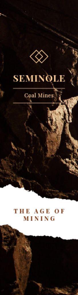 Mining Industry Black Coal Pieces — Créer un visuel