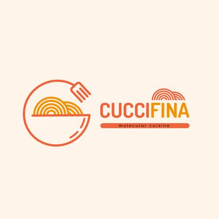 Plantilla de diseño de Molecular Cuisine Dish Logo Logo