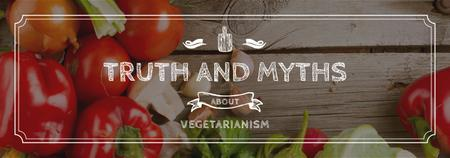 Plantilla de diseño de Vegetarian Food Concept with Fresh Vegetables Tumblr