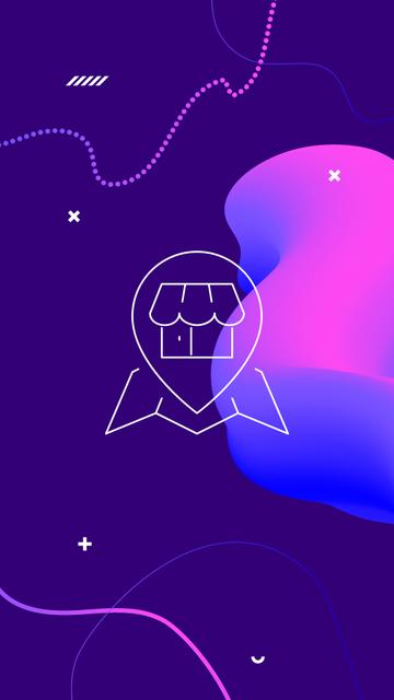 Plantilla de diseño de Shop information and contacts icons Instagram Highlight Cover