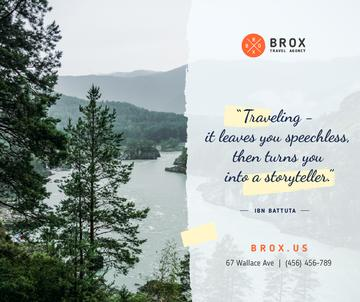 Travel Quote on Scenic Forest View