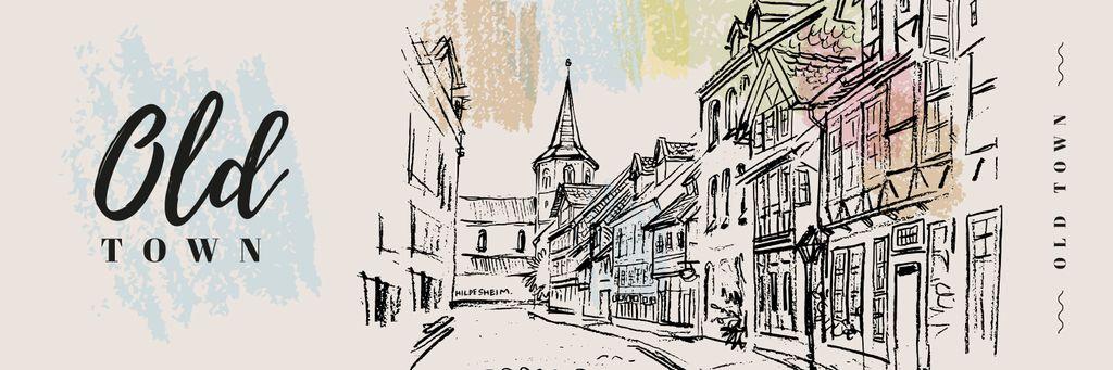 Old buildings facades — Design Template