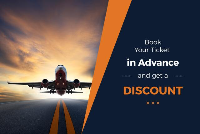 Advertisement of discount for airline tickets Gift Certificate Tasarım Şablonu