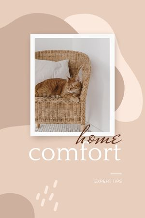 Plantilla de diseño de Cute Cat in Armchair Tumblr