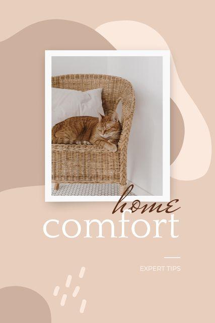 Cute Cat in Armchair Tumblr Modelo de Design