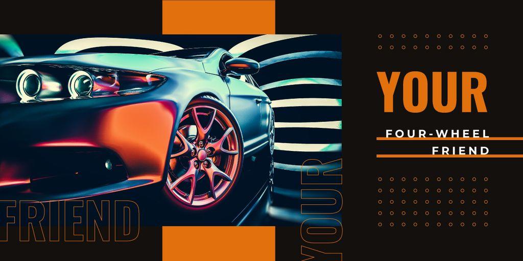 Modern sports car Image Design Template