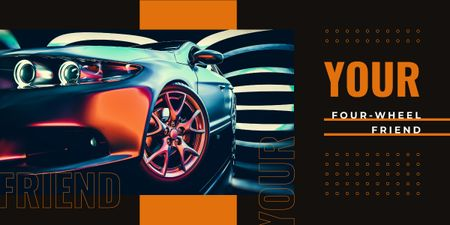 Modern sports car Image Design Template