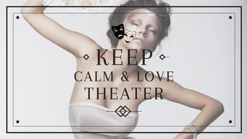 Theater Quote Woman Performing in White | Youtube Channel Art