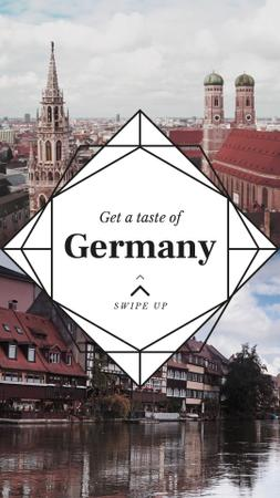 Plantilla de diseño de Special Tour Offer to Germany Instagram Video Story