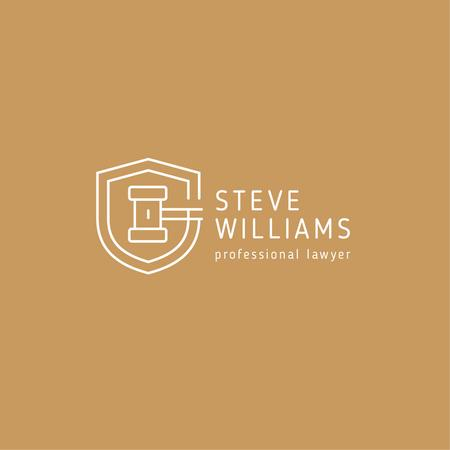 Template di design Lawyer Services Ad with Wooden Gavel Logo