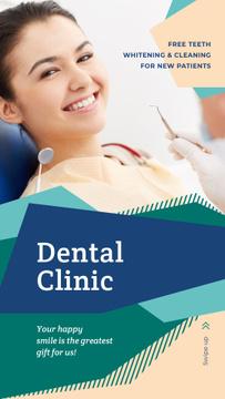 Smiling Woman visiting dentist