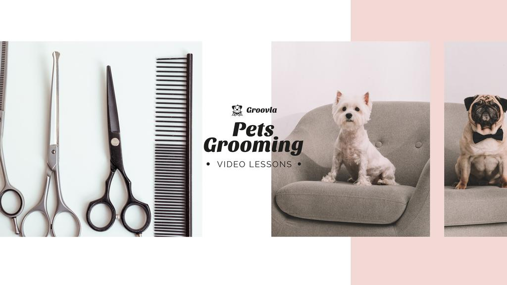 Pets Grooming Guide Cute Dogs —デザインを作成する