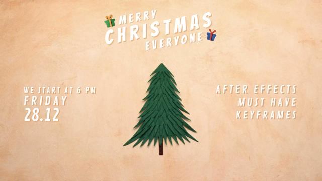 Designvorlage Christmas Invitation Gifts under Tree für Full HD video