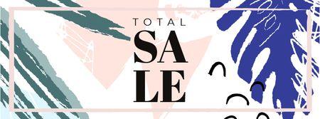Plantilla de diseño de Sale announcement on Leaves pattern Facebook Video cover