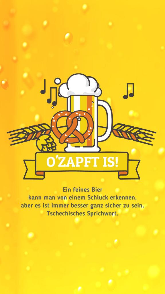 Oktoberfest Offer Lager in Glass Mug in Yellow — Створити дизайн