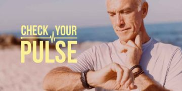 Check your pulse Ad with senior man