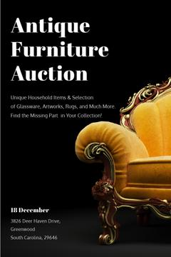 Antique Furniture Auction Luxury Yellow Armchair | Pinterest Template
