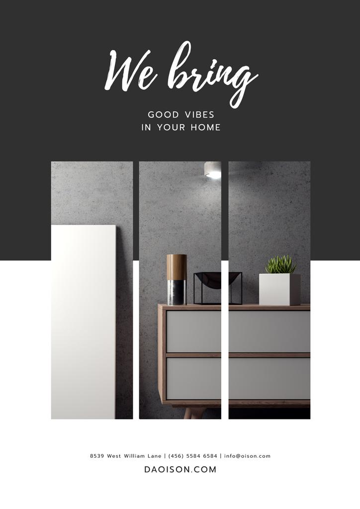 Furniture Store ad in grey —デザインを作成する