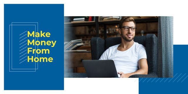 Make money from home Image Design Template