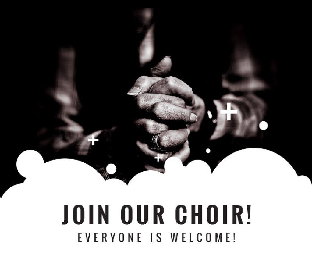 Invitation to a religious choir — Crear un diseño