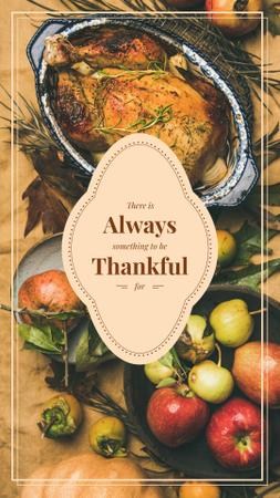 Template di design Roasted whole turkey on Thanksgiving Day Instagram Story