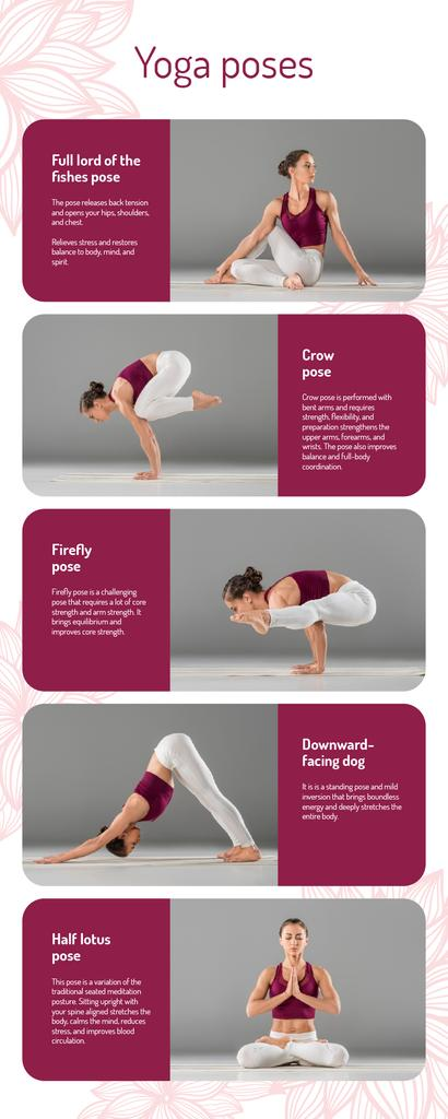 List infographics about Yoga Poses — Modelo de projeto