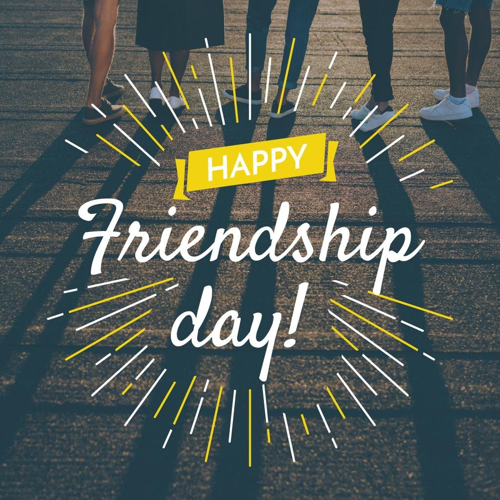 Friendship Day Greeting Young People Together — Modelo de projeto