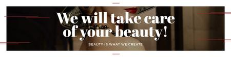 Ontwerpsjabloon van Twitter van Citation about care of beauty