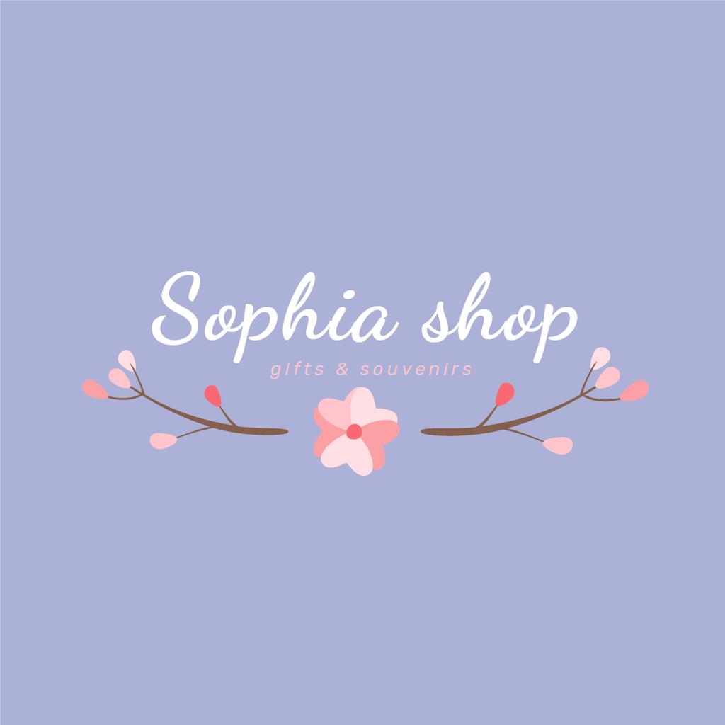 Gift Shop Ad Branches with Flowers — Створити дизайн