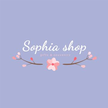 Gift Shop Ad with Branches with Flowers