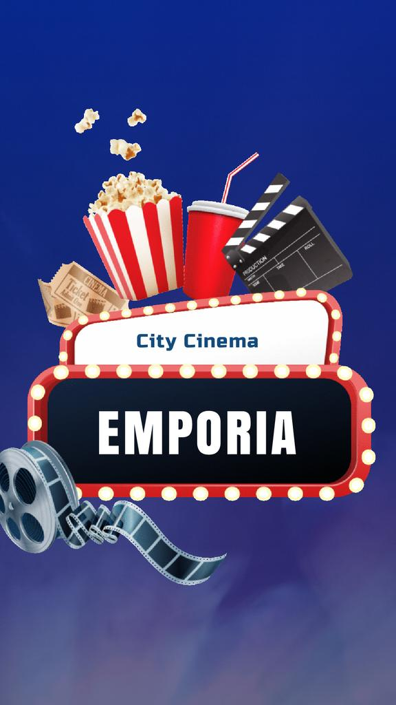 Movie Night invitation Cinema attributes — Створити дизайн