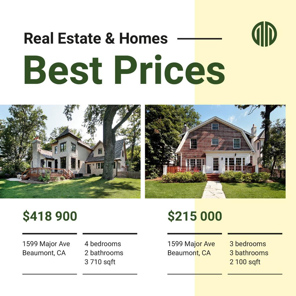 Real Estate Property Offer Cozy Houses   Instagram Ad Template — Créer un visuel