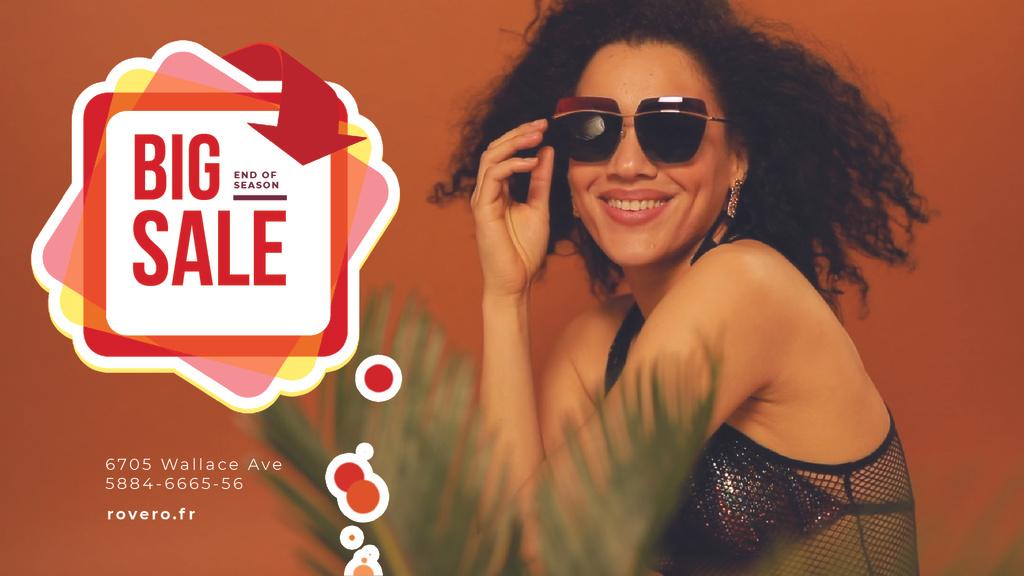 Fashion Sale Ad Woman in Sunglasses — Create a Design
