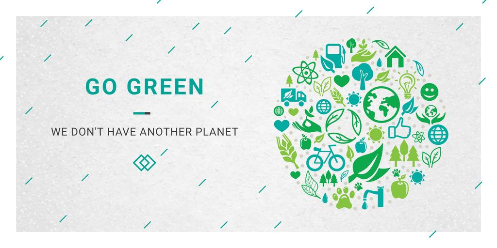 Citation about green planet — Crear un diseño