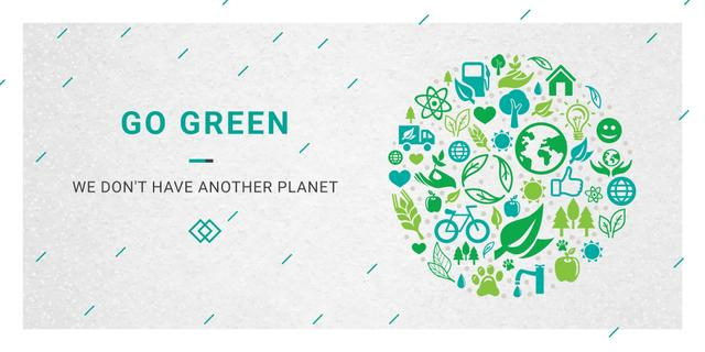 Citation about green planet Image Design Template