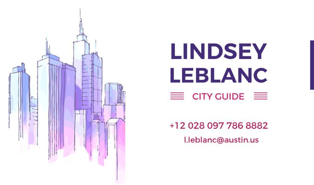 City Guide Ad Skyscrapers in Blue | Business Card Template — Crea un design