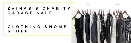 Charity Garage Sale Announcement Email headerデザインテンプレート
