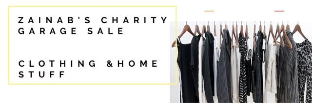 Plantilla de diseño de Charity Garage Sale Announcement Email header
