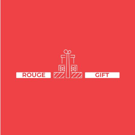 Plantilla de diseño de Stack of Gifts in Red Logo