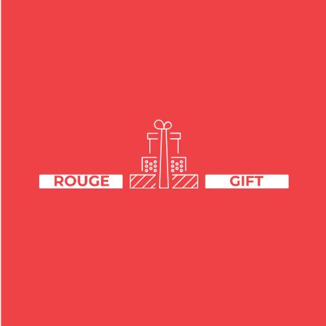 Plantilla de diseño de Stack of Gifts in Red Logo