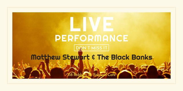 Live Performance Announcement Crowd at Concert Image Design Template