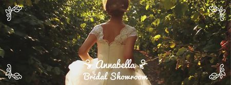 Template di design Bride running on green pathway Facebook Video cover