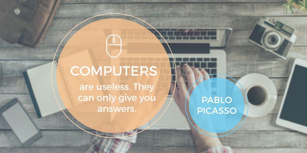 Computers quote poster — ein Design erstellen