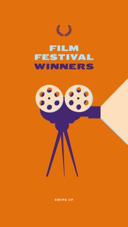 Plantilla de diseño de Film Festival vintage projector Instagram Story