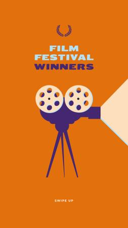 Film Festival vintage projector Instagram Storyデザインテンプレート