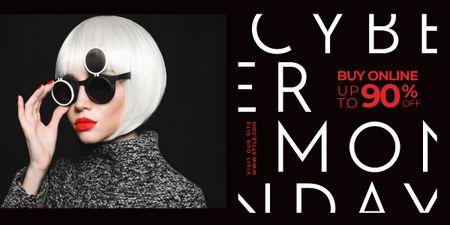 Plantilla de diseño de Cyber monday sale poster Image