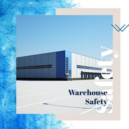 Industrial warehouse building Instagram – шаблон для дизайну
